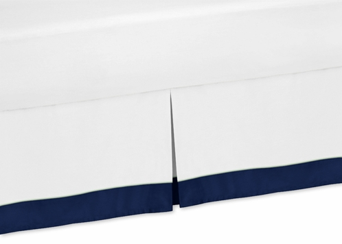 Twin Bed Skirt for Navy, Mint and Grey Woodsy Bedding Sets by Sweet Jojo Designs - Click to enlarge