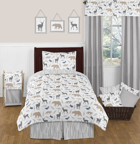 Woodland Animals 4pc Twin Boy Bedding Set By Sweet Jojo