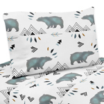 Twin Sheet Set for Bear Mountain Watercolor Collection by Sweet Jojo Designs - 3 piece set