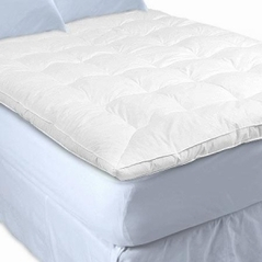 Twin White Goose Down Featherbed