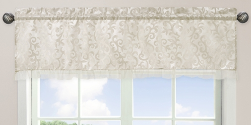Champagne and Ivory Victoria�Window Valance by Sweet Jojo Designs - Click to enlarge