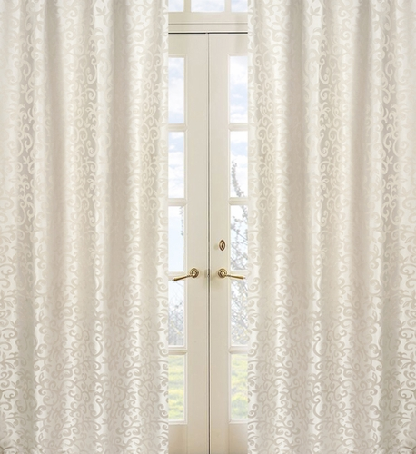 Victoria Jacquard Window Treatment Panels by Sweet Jojo Designs - Set of 2 - Click to enlarge