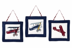 Vintage Aviator Airplane Wall Hanging Accessories by Sweet Jojo Designs