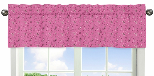 Pink Bandana Window Valance for Western Cowgirl Collection by Sweet Jojo Designs - Click to enlarge