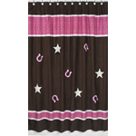 Western Cowgirl Kids Bathroom Fabric Bath Shower Curtain