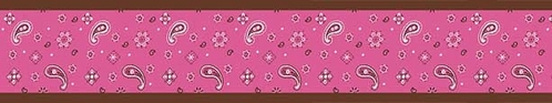 Western Horse Cowgirl Baby and Kids Wall Border by Sweet Jojo Designs - Bandana Print - Click to enlarge