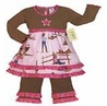 Western Horse Cowgirl Baby Girls Infant 2pc Set or Dress by Sweet Jojo Designs