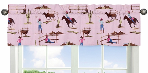 Western Horse Cowgirl Collection Window Valance by Sweet Jojo Designs - Click to enlarge