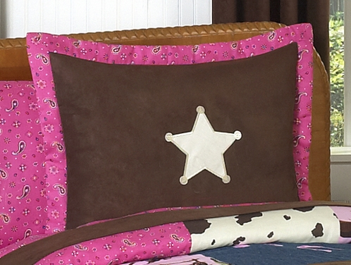 Western Horse Cowgirl Pillow Sham - Click to enlarge