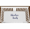 White Adventure Awaits Baby Boy Girl or Toddler Fitted Crib Sheet with Navy Blue Inspirational Quote by Sweet Jojo Designs