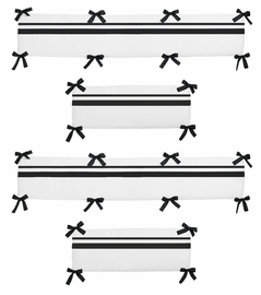 White and Black Hotel Collection Crib Bumper by Sweet Jojo Designs