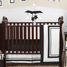 White and Black Modern Hotel Baby Bedding - 11pc Crib Set by Sweet Jojo Designs