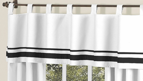 White and Black Hotel�Modern Window Valance by Sweet Jojo Designs - Click to enlarge