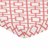 Coral and White Baby or Toddler Fitted Mini Portable Crib Sheet for Mod Diamond Collection by Sweet Jojo Designs