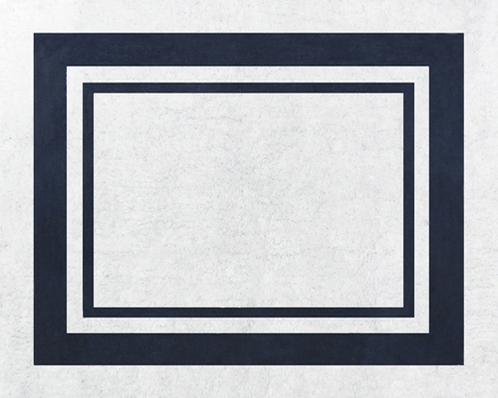 White and Navy Modern Hotel Accent Floor Rug by Sweet Jojo Designs - Click to enlarge