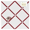 White and Red Hotel Fabric Memory/Memo Photo Bulletin Board by Sweet Jojo Designs