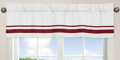 White and Red Hotel�Modern Window Valance by Sweet Jojo Designs