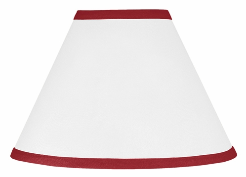 White and Red Modern Hotel Lamp Shade by Sweet Jojo Designs - Click to enlarge