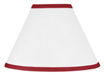 White and Red Modern Hotel Lamp Shade by Sweet Jojo Designs