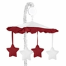 White and Red Modern Hotel Musical Baby Crib Mobile by Sweet Jojo Designs