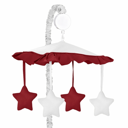 White and Red Modern Hotel Musical Baby Crib Mobile by Sweet Jojo Designs - Click to enlarge