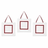 White and Red Modern Hotel Wall Hanging Accessories by Sweet Jojo Designs