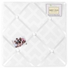 White Diamond Jacquard Modern Fabric Memory/Memo Photo Bulletin Board by Sweet Jojo Designs