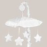 White Diamond Jacquard Modern Musical Baby Crib Mobile by Sweet Jojo Designs