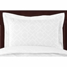 White Diamond Jacquard Modern Pillow Sham by Sweet Jojo Designs