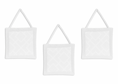 White Diamond Jacquard Modern Wall Hanging Accessories by Sweet Jojo Designs - Click to enlarge