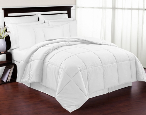 White Down-Alternative Comforter<br> Available in Twin & Queen Sizes - Click to enlarge