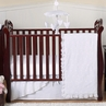 White Eyelet Baby Bedding - 4pc Crib Set