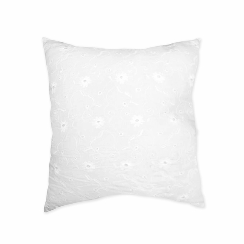 White Eyelet Decorative Accent Throw Pillow by Sweet Jojo Designs - Click to enlarge