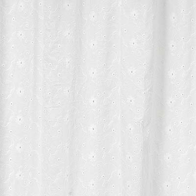 White Eyelet Kids Bathroom Fabric Bath Shower Curtain Only 3999