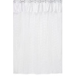 White Eyelet Kids Bathroom Fabric Bath Shower Curtain