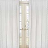 White Eyelet Window Treatment Panels - Set of 2