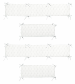White Minky Dot Collection Crib Bumper by Sweet Jojo Designs