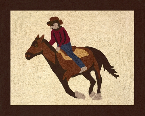Wild West Cowboy Accent Floor Rug - Click to enlarge