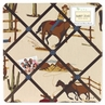 Wild West Cowboy and Horses Print Fabric Memory/Memo Photo Bulletin Board