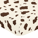 Wild West Cowboy Fitted Crib Sheet for Baby and Toddler Bedding Sets by Sweet Jojo Designs - Cow Print