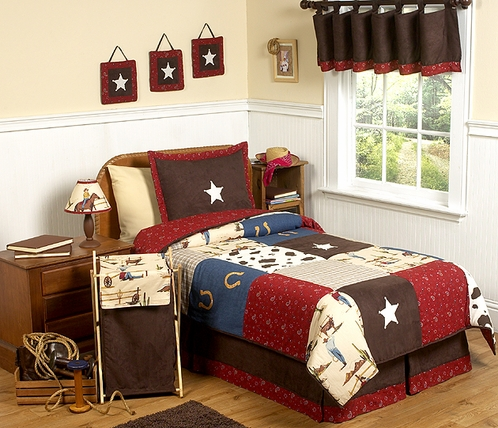 Wild West Cowboy Western Children's Bedding - 3 pc Full / Queen Set - Click to enlarge