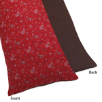 Wild West Cowboy Western Full Length Double Zippered Body Pillow Case Cover by Sweet Jojo Designs