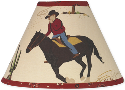 Wild West Cowboy Western Horse Lamp Shade by Sweet Jojo Designs - Click to enlarge