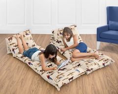 Wild West Cowboy Western Kids Teen Floor Pillow Case Lounger Cushion Cover by Sweet Jojo Designs
