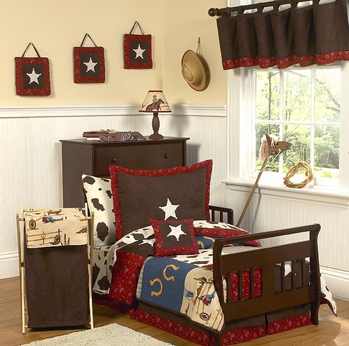 Wild West Cowboy Western Toddler Bedding - 5pc set - Click to enlarge