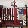 Wild West Western Horse Cowboy Baby Bedding - 4pc Crib Set