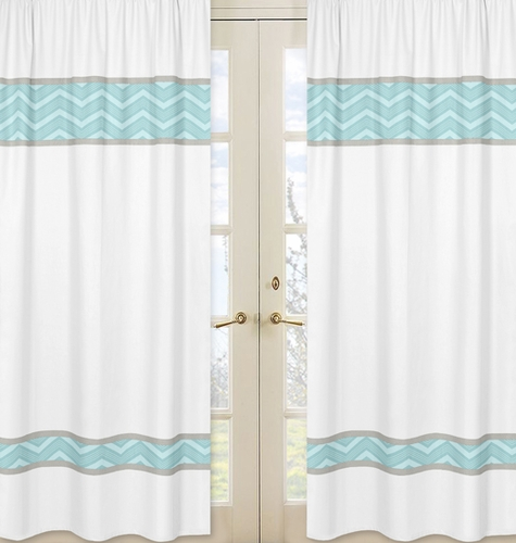 Window Treatment Panels for Balloon Buddies Collection  - Set of 2 - Click to enlarge