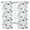 Window Treatment Panels for Blue and Green Mod Dinosaur Collection - Set of 2