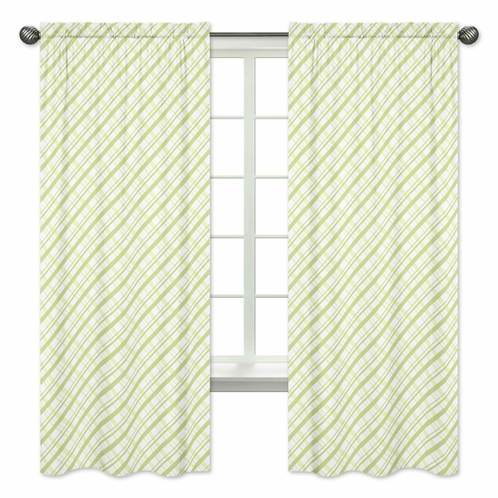 Green Plaid Window Treatment Panels for Leap Frog Collection by Sweet Jojo Designs - Set of 2 - Click to enlarge