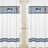 Window Treatment Panels for Ocean Blue Sea Life Collection - Set of 2